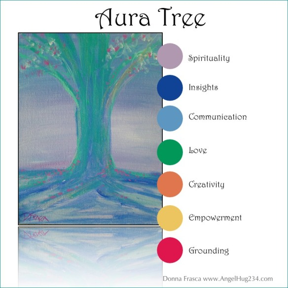 aura tree painting