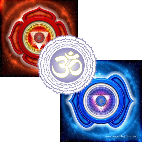 Red White and Blue Chakras
